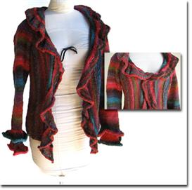 Flamenca Ruffled Cardigan | Other Files | Arts and Crafts