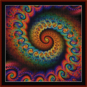 fractal 645 cross stitch pattern by cross stitch collectibles