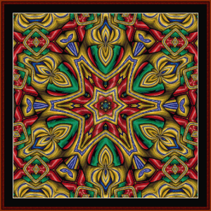 fractal 647 cross stitch pattern by cross stitch collectibles