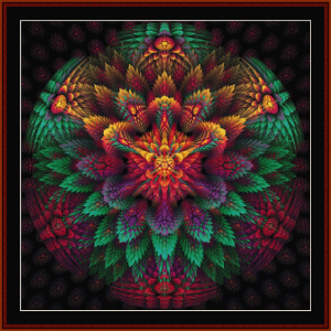 fractal 649 cross stitch pattern by cross stitch collectibles