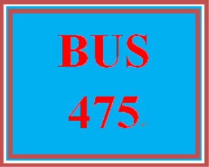 BUS 475 Week 1 Mission, Vision, and You | eBooks | Education