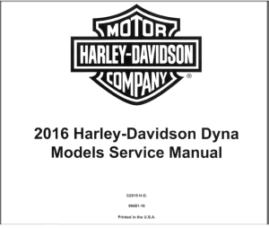 harley davidson dyna 2016 service manual wiring diagrams