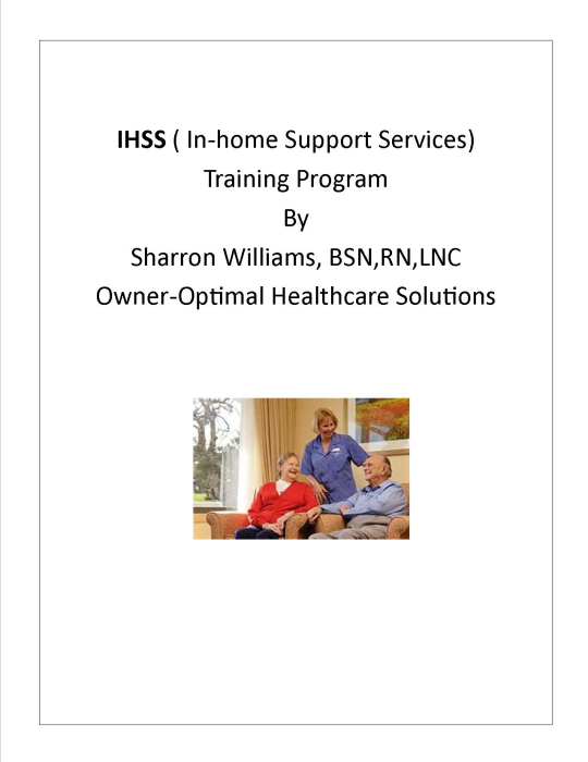 First Additional product image for - IHSS Manual/Handbook