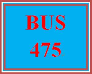 BUS 475 Week 5 Capstone Final Examination Part 2 | eBooks | Education