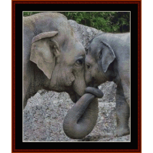 elephants - custom pattern by cross stitch collectibles