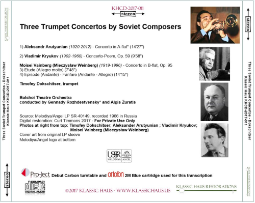 First Additional product image for - Three Trumpet Concertos by Soviet Composers - Timofey Dokschitser, trumpet