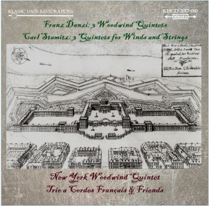 franz danzi (1763-1826): 3 woodwind quintets; carl stamitz (1745-1801): 3 quartets for winds and strings