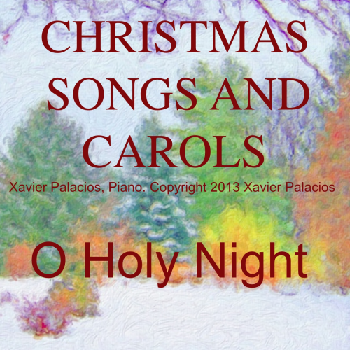 First Additional product image for - O Holy Night (Noël), Medium Voice in B Major (Mezzo). A. Adam, J.S. Dwight. Digital score., A5 (landscape). Piano Accompaniment with Vocal Melody Added Mp3