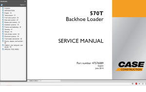 Case Backhoe Loader 570T Service Manual Wiring diagrams | eBooks | Technical