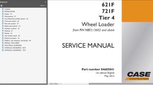 case 621f 721f tier 4 wheel loader service manual