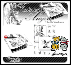 Fairies and Angels Tattoos - 75+ Rare And Beautiful Fairy And Angel Tattoos | eBooks | Other