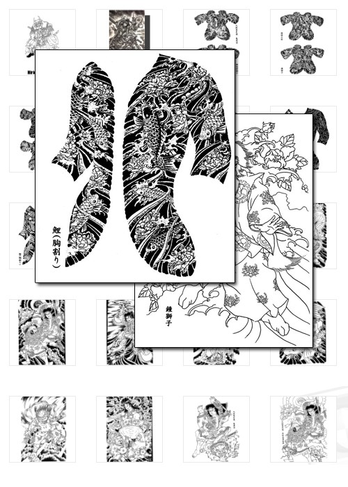 First Additional product image for - Japanese Tattoos - Over 400 designs from Horicho to Demons, to Japanese Hero's