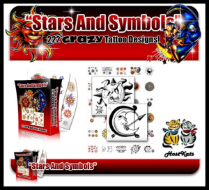 Star Tattoos -Over 220 Rare And Beautiful Star Tattoos | eBooks | Other