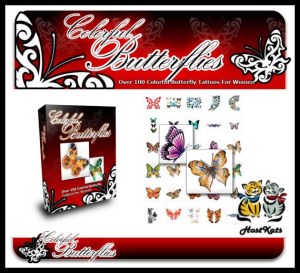 Colorful Butterflies - Over 100 Rare And Beautiful Colored Butterfly Tattoos | eBooks | Other