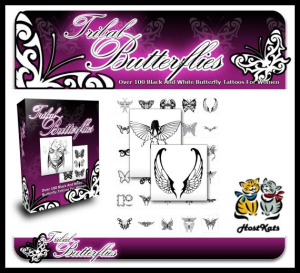 tribal butterflies - over 100 rare and beautiful black and white tribal butterfly tattoos
