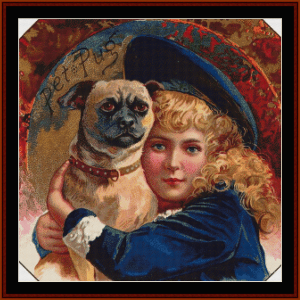 buster brown - vintage art cross stitch pattern by cross stitch collectibles
