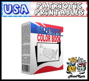 usa patriotic printables coloring book