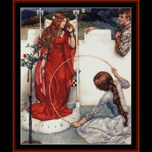 La Mort d'Arthur - W.R. Flint cross stitch pattern by Cross Stitch Collectibles | Crafting | Cross-Stitch | Wall Hangings