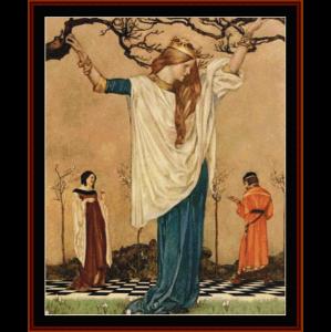 la mort d'arthur ii - w.r. flint cross stitch pattern by cross stitch collectibles