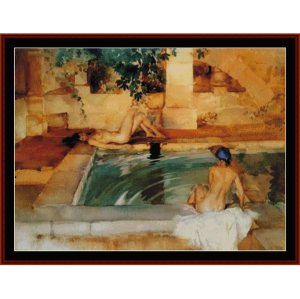 the bathers - w.r. flint cross stitch pattern by cross stitch collectibles