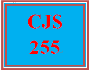 cjs 255 week 1 purpose and history paper