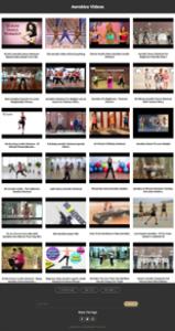 aerobics instant mobile video site