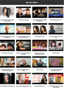 hair loss instant mobile video site