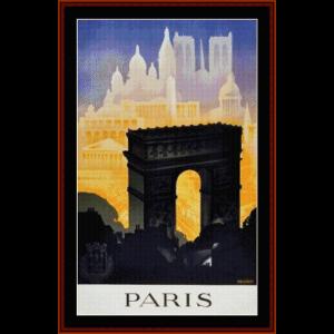 Paris II - Vintage Poster cross stitch pattern by Cross Stitch Collectibles | Crafting | Cross-Stitch | Wall Hangings