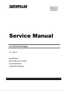 pdf caterpillar c6.6 diesel engine service shop manual (s/n 666 1 & up)
