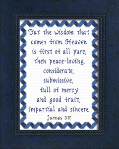 Wisdom From Heaven | Crafting | Cross-Stitch | Religious