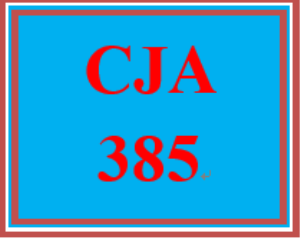 cja 385 week 1 personal perception paper