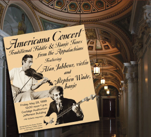 """Patuxent CD-308  Alan Jabbour & Stephen Wade at the Library of Congress  """"Americana Concert"""" 