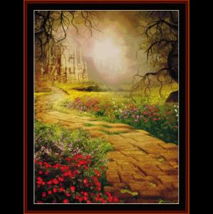fantasy castle - fantasy cross stitch pattern by cross stitch collectibles