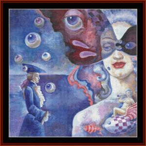 manon - fantasy cross stitch pattern by cross stitch collectibles