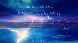 atmospheres, climates and environments series