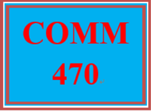comm 470 week 5 virtual communication plan and presentation