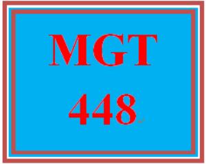 mgt 448 week 1 globalization