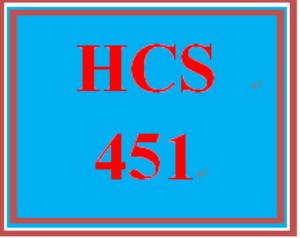 hcs 451 entire course