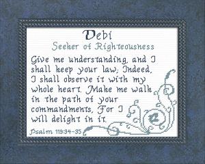 name blessings - debi