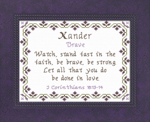 name blessings - xander