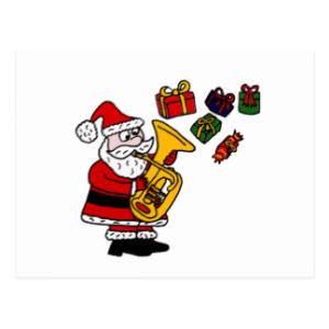santa wants a tuba for christmas – custom arranged for a six piece brass group, piano, vocal (rhythm) and tuba solo