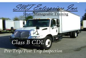 smt enterprises inc. class b pre trip inspection