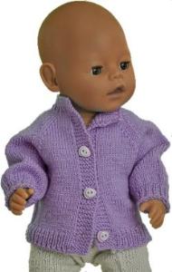 dollknittingpatterns - 2017 julehilsen - cardigan jakke betty (norsk)
