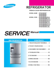 samsung rf28hmedbsl rf30hmedbrs refrigerator service manual