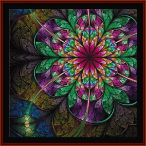 fractal 651 cross stitch pattern by cross stitch collectibles