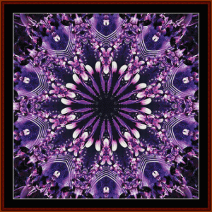 fractal 653 cross stitch pattern by cross stitch collectibles