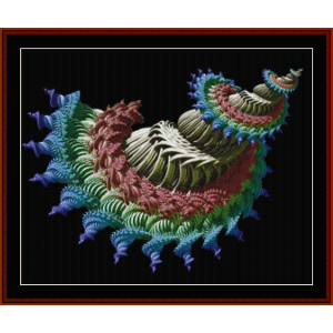 fractal 654 cross stitch pattern by cross stitch collectibles
