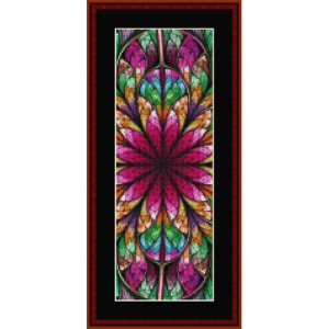 fractal 651 bookmark cross stitch pattern by cross stitch collectibles