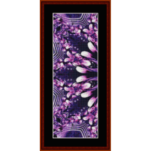 fractal 653 bookmark cross stitch pattern by cross stitch collectibles