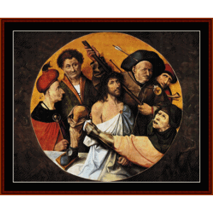 christ crowned with thorns ii	- bosch cross stitch pattern by cross stitch collectibles